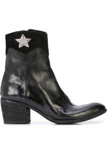 Madison.Maison Ankle Boot Com Detalhe De Estrela - Preto