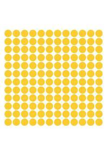 Adesivo De Parede Bolinhas Amarelas 144Un