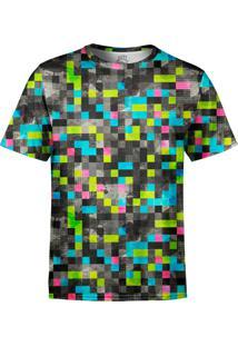Camiseta Estampada Over Fame Tecno Pixels Multicolorido