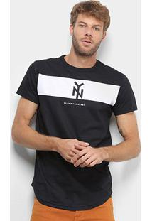 Camiseta Industrie New York Especial Masculina - Masculino-Preto