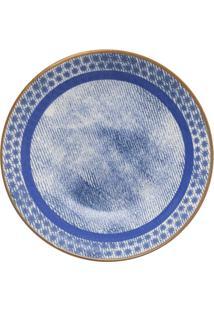 Conjunto 6 Pratos Fundos Oxford 20Cm Cerâmica Unni Jeans Azul