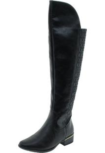 Bota Feminina Over The Knee Comfortflex - 1769305 Preto 34