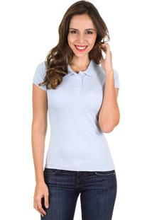 Camisa Colombo Woman Polo Azul Lisa