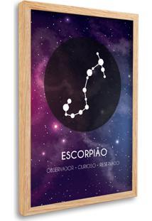 Quadro Oppen House Signos Escorpião Zodíaco Horóscopo Natural E Vidro Decorativo