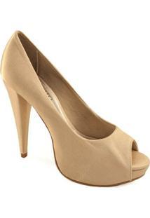 Peep Toe Clássico Sapato Show - Feminino-Ouro