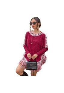Blusa Tricot Thalia Feminina Shopping Do Tricô Inverno Poncho