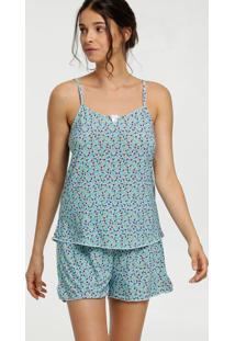 Pijama Feminina Liganete Estampa Floral Marisa