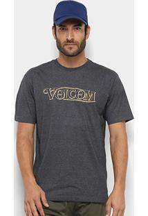 Camiseta Volcom Silk Straight Up Masculina - Masculino
