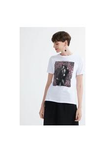 Blusa Alongada Em Algodão Com Estampa Com Paetês | Cortelle | Branco | Gg