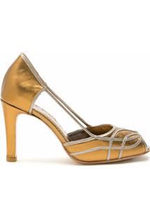 Sarah Chofakian Sandália Carmel Metalizada - Dourado