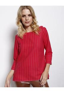 Blusa Listrada- Vermelha & Branca- Vip Reservavip Reserva