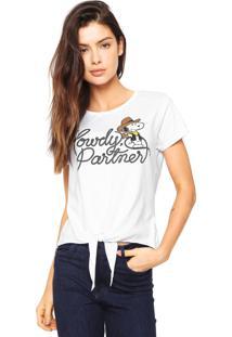 Camiseta Snoopy Howdy Branca
