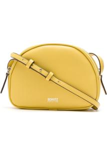 Schutz Bolsa Tiracolo Com Logo - Amarelo