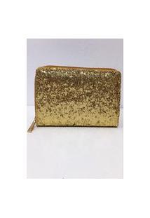 Carteira Glitter Dourada