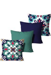 Kit 4 Capas Love Decor Para Almofadas Decorativas Mandalas Multicolorido Verde