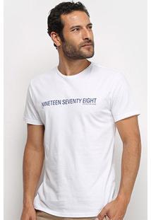 Camiseta Calvin Klein Nineteen Seventy Eight Masculina - Masculino-Branco