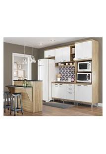 Cozinha Completa Multimóveis Com 5 Peças Sicília 5843 Argila/Branco