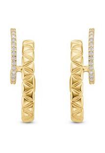 Brinco Icona Ouro Amarelo E Diamantes Grande
