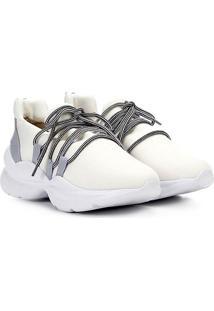 Tênis Chuncky Capodarte Sportive Sneaker Neoprene Feminino - Feminino-Branco