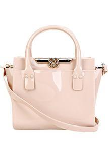 Bolsa Petite Jolie Love Bag Feminina - Feminino-Bege Claro