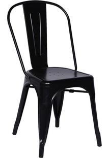 Cadeira Retrã´- Preta- 86X36X35,5Cm- Or Designor Design