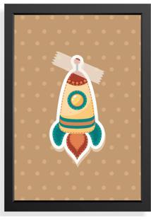 Quadro Love Decor Decorativo Infantil Colagem Foguete