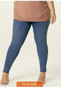 Calça Azul Claro Skinny Em Jeans Flex Plus
