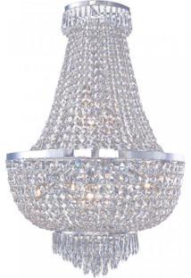 Lustre Imperio Metal 79Cmx52Cm Bella Iluminação Transparente