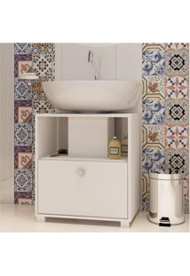 Balcão Para Banheiro Bbn 02-06 Branco Fosco - Brv Móveis