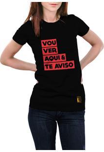 Camiseta Hunter Vou Ver E Te Aviso Preta