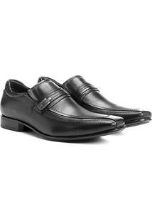 Sapato Social Couro Democrata Sport - Masculino-Preto