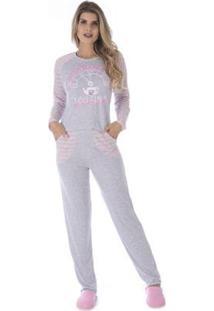 Conjunto Pijama Victory Inverno Pv Feminino - Feminino-Rosa