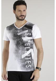 """Camiseta """"Sattelites"""" Branca"""