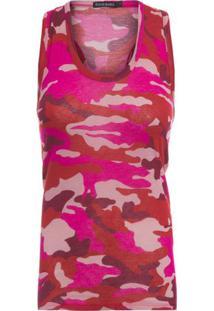 Regata Camuflada Le Lis Blanc - Rosa
