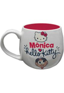 Caneca Porcelana Bulging Hello Kitty Colorida 12,5X9,5Cm 300Ml Urban