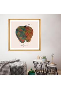 Quadro Com Moldura Chanfrada Orelo De Elefanto Leafman Madeira Clara - 70X70 - Multicolorido - Dafiti