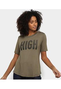 Camiseta Acostamento High Feminina - Feminino-Verde