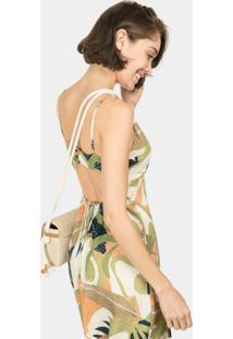 Vestido Com Alças Estampa Avocado - Lez A Lez
