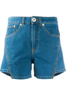 Lanvin Short Jeans Assimétrico - Azul