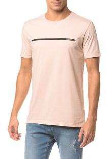 Camiseta Ckj Mc Logo Palito - Rosa Claro - Ggg