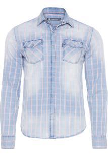 Camisa Masculina Jeffrey - Azul