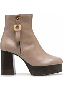 See By Chloé Ankle Boot Com Plataforma - Neutro