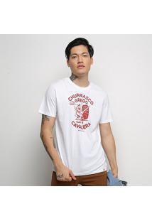 Camiseta Cavalera T Shirt Churrasco Grego Masculina - Masculino