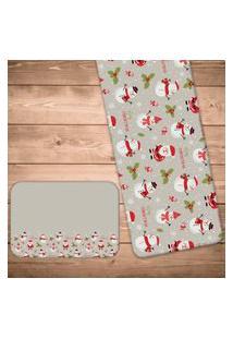 Jogo Americano Com Caminho De Mesa Marry Christmas Kit Com 2 Pçs + 2 Trilhos