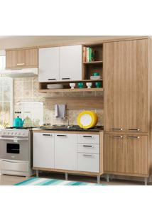 Cozinha Compacta 5 Peças 5838-S19- Sicília - Multimóveis - Argila / Branco