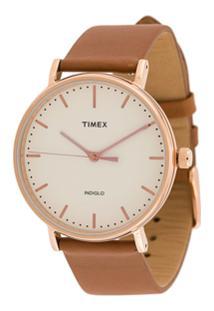 Timex Fairfield 41Mm Watch - Marrom