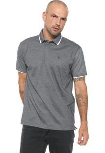 Camisa Polo Dudalina Reta Cinza