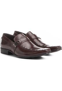 Sapato Social Couro Shoestock Fivela - Masculino-Café