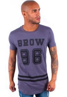Camisa Rockstar Long Brow Cinza Escuro