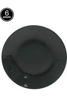 Conjunto Pratos Fundos Oxford 24Cm 6 Peças Coup Black.
